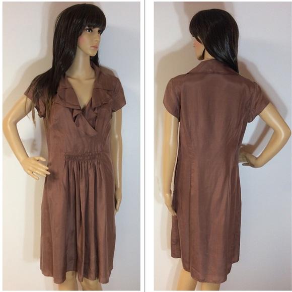 LOFT Dresses & Skirts - 🎉HP🎉ANN TAYLOR LOFT SILK MOCHA DRESS